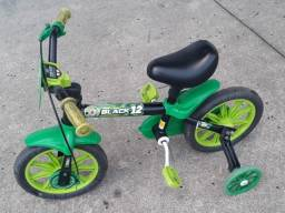 Bicicleta Infantil Aro 12 - Banco de Couro legítimo