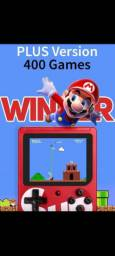 Mini game com 400 jogos portátil e recarregável