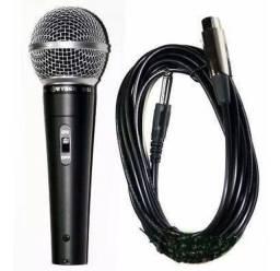 Microfone  M-58 cardióide e unidirecional preto