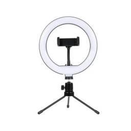 Ring light led 8 polegadas com tripé de mesa