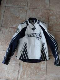 Jaqueta de Motociclismo de Couro da marca Shift modelo Vertex com sistema de ventilação