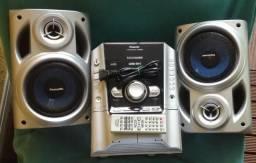 Som Micro System Panasonic Sa Ak240 Raro 5cds Com Defeito