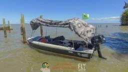 Barco completo com motor kawashima 6 hp documentado - 2016