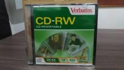 Pacote com 19 x Mídias CD-RW Lacradas 650mb 2x 4x