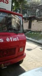 Caminhão 608 MB 81 baú 6 metros p 2,40 altura freio hidráulico com porta lateral - 1981
