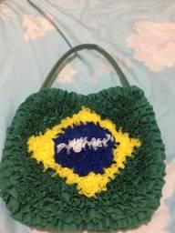 Bolsa de fuxico bandeira do Brasil ??