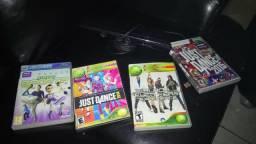 Kinect praticamente novo mais jogos do Xbox 360