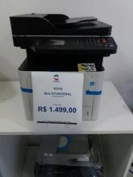 Impressora multifuncional samsung SL M3375FD - nova