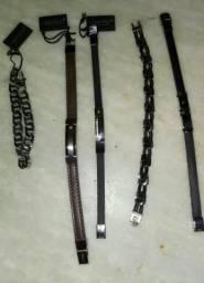 Pulseiras de couro importadas