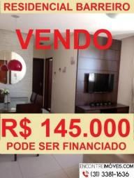 Apartamento com 02 quartos no bairro Cardoso na região do Barreiro de Cima