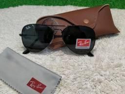 aaf537da32307 Óculos Ray Ban Aviador todo preto