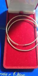 Argola em ouro 18 kilates _ 4 cm _ 5 gramas