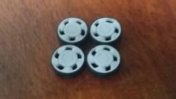 Jogo de rodas orbital com pneus para miniaturas 1:24
