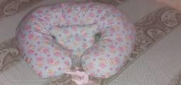 Kit almofada de amamentação e travesseiro para bebê anatômico