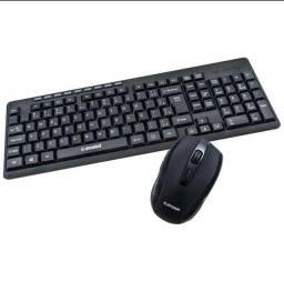 Kit Teclado E Mouse Wireless  Sem fio