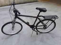 Bicicleta Caloi Aluminum Sport Aro 26 21 Marchas com Suspensão Dianteira MTB - Preto