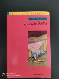 Livro Quincas Borba de Machado de Assis edição clássicos scipione