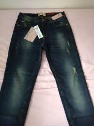 Calça handara jeans com Lycra n 42 nova