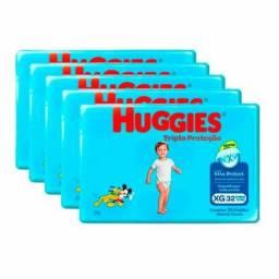 Título do anúncio: 5 PACOTES DE FRALDA HUGGIES XG