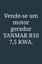 VENDO! Um motor gerador YANMAR B10, 7,5 KWA, todo revisado recentemente