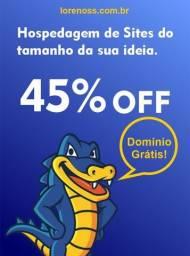 Hospedagem de Site com Domínio Grátis! à partir de R$9,89