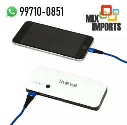 Bateria Portátil Recarregável 10.000mAh p/ celular (Novo, aceito cartão)