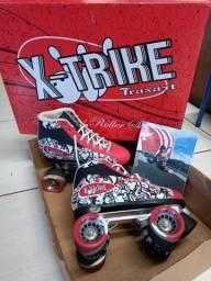 Patins 4 rodas X-TRIKE Traxart n° 36 SEMI NOVO, na Caixa.