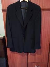 Paletó blazer microfibra 100% preto super confortável veste 46/48