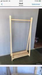Arara de madeira 150x60x30