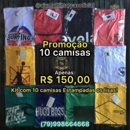 PROMOÇÃO 10 CAMISAS BÁSICAS SORTIDAS