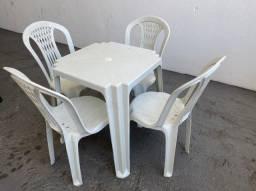 Liquidação de estoque jogo completo mesa e cadeira plástica no atacado para restaurante