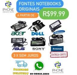 Fonte Carregador Notebook Originais ( Asus / Lenovo / Sony /Dell) Entrega Grátis