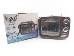 Caixinha De Som Bluetooth Rádio Retrô Altomex Tv