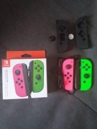 Joy-con Nintendo Switch 2021 Neon Pink Neon Green mais Garantia Fabricante e Estendida