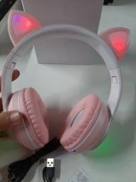 Fone Bluetooth com orelhas gatinho