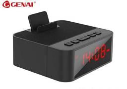 Caixa De Som Bluetooth Relógio Despertador Genai BX10 Base<br><br>