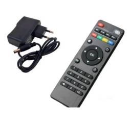 Controle Remoto Smart TV Box + Fonte 5v 2Amp