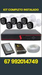 Kit 6 Câmeras full HD + DVR CFTV