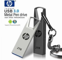 Pen Drive USB 3.0 de Metal com Armazenamento de 2TB com Alta Velocidade de Leitura