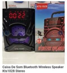 caixa de som bluetooth wireless speaker KTS-1028 STEREO<br>
