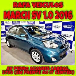 MARCH SV 1.0 2016 1 MIL DE ENTRADA NA RAFA VEICULOS hj856*&^