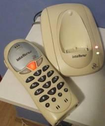 telefone fixo s/fio + cabo para conectar na rede