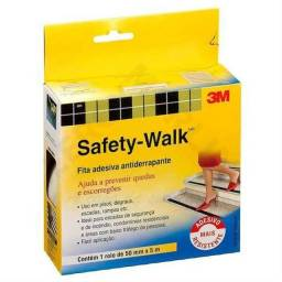 Fitas Antiderrapante Safety Walk Preta - 50mm X 5m - 3m