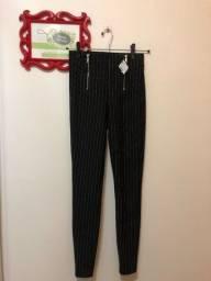 Calça legging  cintura alta risca de giz Cortelle Renner