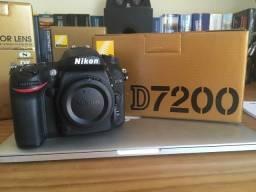 Câmera Nikon D7200 c/ apenas 5K clicks - Nova!