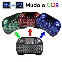 Mini Teclado Air Mouse Touch Sem Fio Tv Wireless C/Luz<br><br>