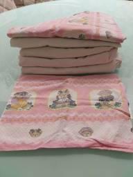 Título do anúncio: 5 lençóis de elástico berço Americano