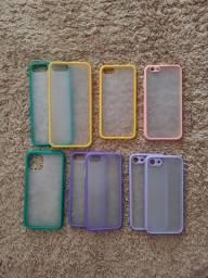 Cases Transparentes de borda colorida IPHONE