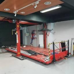 Monta-carga para elevação e transporte horizontal