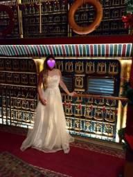 Vestido de noiva Egípcio com pérolas
